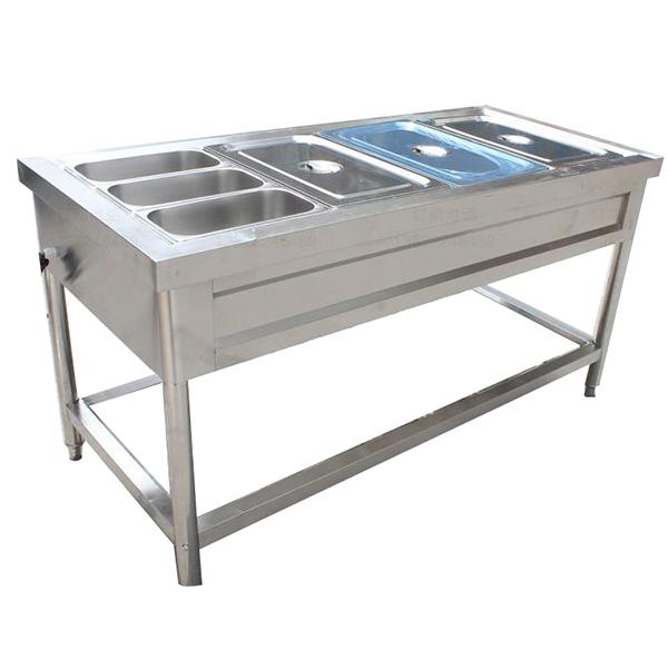 七格不锈钢保温售饭台