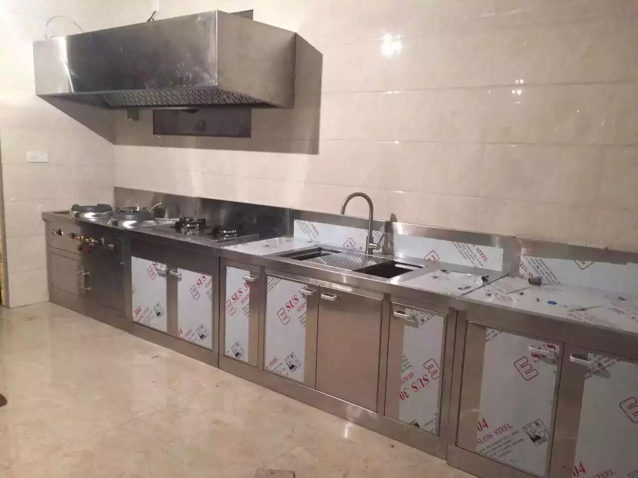全季酒店(水城路店)厨房不锈钢操作台设备